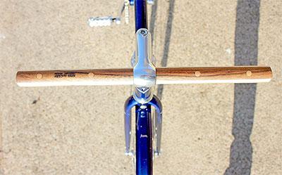 guidon droit pour vélo fixie en bois