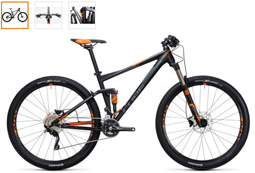 velo vtt cube stereo 120 double suspension